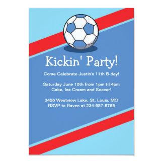 "Boys Soccer Themed Birthday Party Invites 5"" X 7"" Invitation Card"