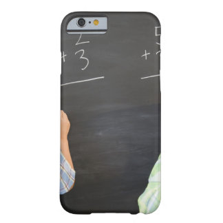 Boys solving math problems on blackboard barely there iPhone 6 case