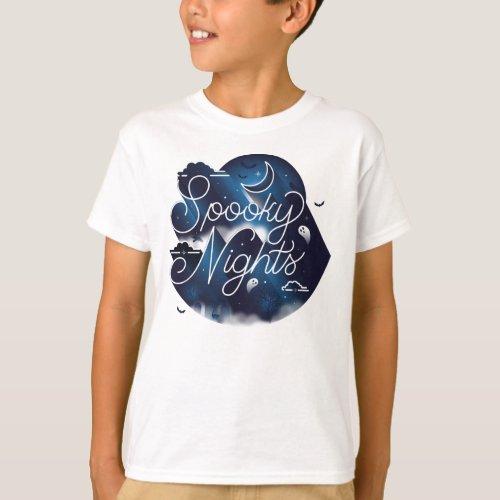Boys Spooky Nights T_Shirt  White