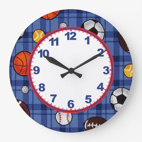 Boys Sports Clock with Numbers