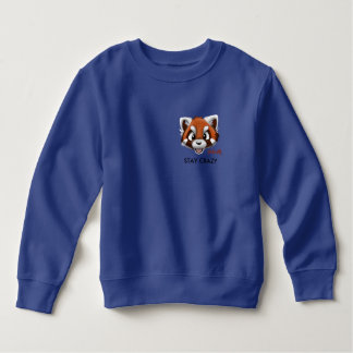 Boys STAY CRAZY Front Pocket Sweatshirt
