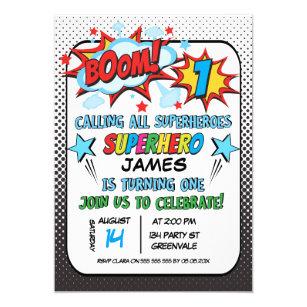 superhero birthday invitations zazzle