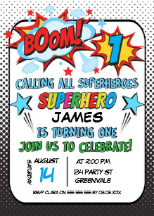superhero birthday invitations zazzle