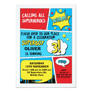 superhero invite template
