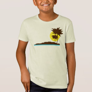 Boys Surf Beach Paradise Palm Tree Tee
