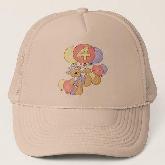 Boys Teddy Bear 4th Birthday Gifts Trucker Hat