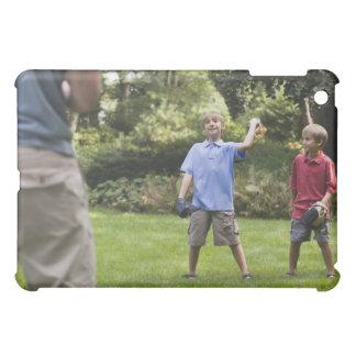 Boys throwing baseball iPad mini cover