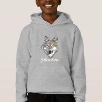 Boy's Top Hooded Sweatshirt Yellowstone Wolf