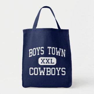 Boys Town - Cowboys - High - Boys Town Nebraska Grocery Tote Bag