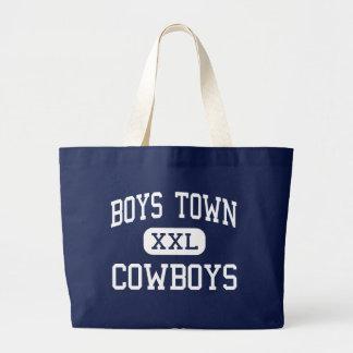 Boys Town - Cowboys - High - Boys Town Nebraska Jumbo Tote Bag
