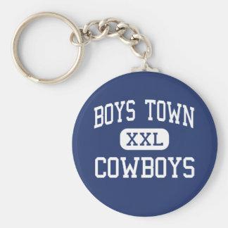 Boys Town - Cowboys - High - Boys Town Nebraska Basic Round Button Keychain