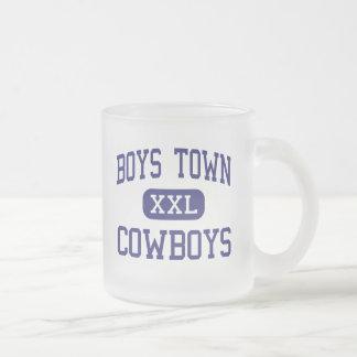 Boys Town - Cowboys - High - Boys Town Nebraska 10 Oz Frosted Glass Coffee Mug