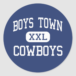 Boys Town - Cowboys - High - Boys Town Nebraska Classic Round Sticker