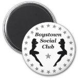 Boys town social club fridge magnet