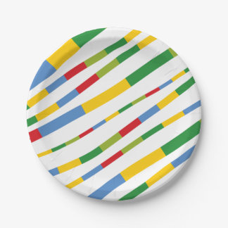 Boys Toys Birthday Party Fun Stripes Paper Plates