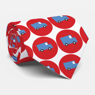 Boy's Toys Blue Truck Red Dots Fun Gift Tie