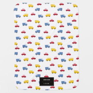Boys Toys Car Bus Truck New Birth Baby Boy Blanket Stroller Blankets