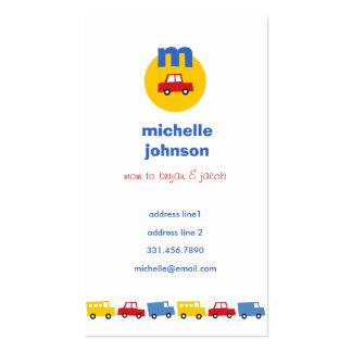 Boys' Toys Car Fun Cute Mom Dad Calling Card Business Card Template