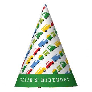 Boys Toys Car Train Transport Birthday Party Hat
