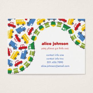 Boys' Toys Children Party Planner Fun Profile Card