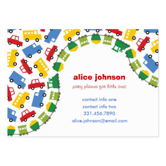 Boys' Toys Children Party Planner Fun Profile Card Large Business Cards (Pack Of 100)