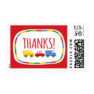 Boys Toys Colorful Transport Thank You Postage