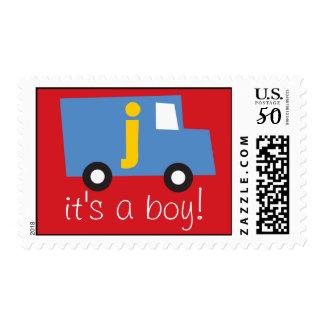 Boy's Toys Fun Cute Birth Announcement Postage