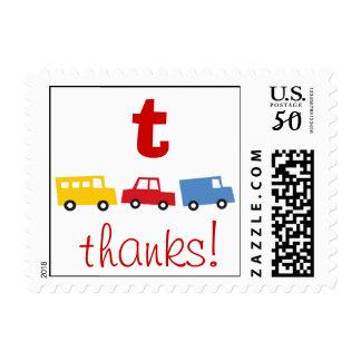 Boy's Toys Fun Cute Kids Birthday Thank You Stamps