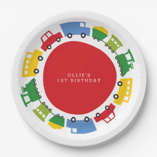 Boys Toys Fun Transport Boy Birthday Paper Plates