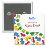 Boys' Toys Party Name Tag / Favors / Gift Button