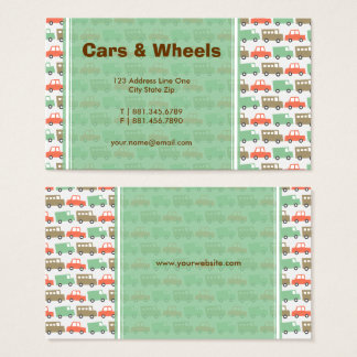 Boys Toys Retro Cars Fun Custom Profile Card