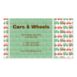 Boys Toys Retro Cars Fun Custom Profile Card Double-Sided Standard Business Cards (Pack Of 100)