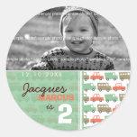 Boys Toys Retro Gift Favors Custom Label Sticker Round Sticker