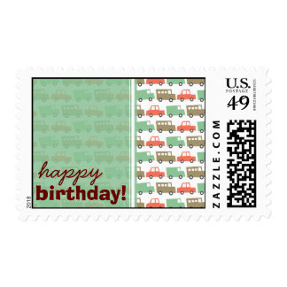 Boys Toys Retro Kid Fun Custom Birthday Stamps