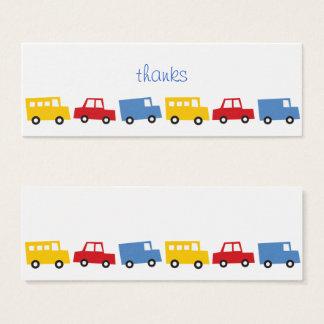 Boys Toys Transport Car Bus Birthday DIY Gift Tags