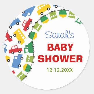 Boys Toys Transport Car Train Baby Shower Sticker
