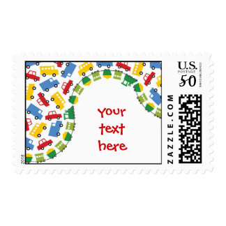 Boys Toys Transport Cars Trains Baby Shower Stamps