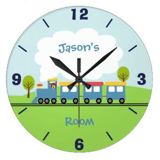 Boys Train Wall Clock