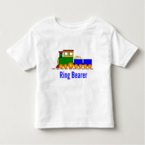 Boy's Train Wedding Ring Bearer Toddler T-shirt