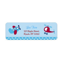 Boys Transportation Airplane Address Labels