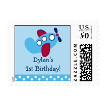 Boys Transportation Airplane Postage Stamps