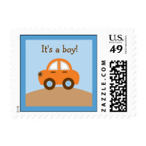 Boys Transportation Car Postage Stamps