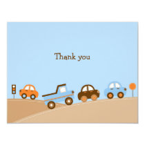 Boys Transportation Car Thank You Note Cards