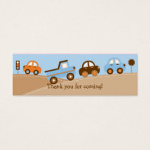Boys Transportation Car Truck Goodie Bag Tags
