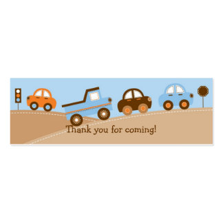 Boys Transportation Car Truck Goodie Bag Tags Mini Business Card