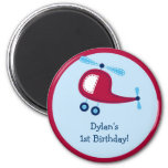 Boys Transportation Helicopter Party Favor Magnets