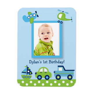 Boys Transportation Photo Magnet Party Favor