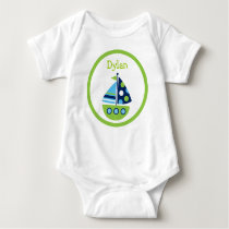 Boys Transportation Sailboat Baby T-Shirt