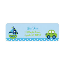 Boys Transportation Sailboat Car Address Labels