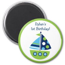 Boys Transportation Sailboat Party Favor Magnets
